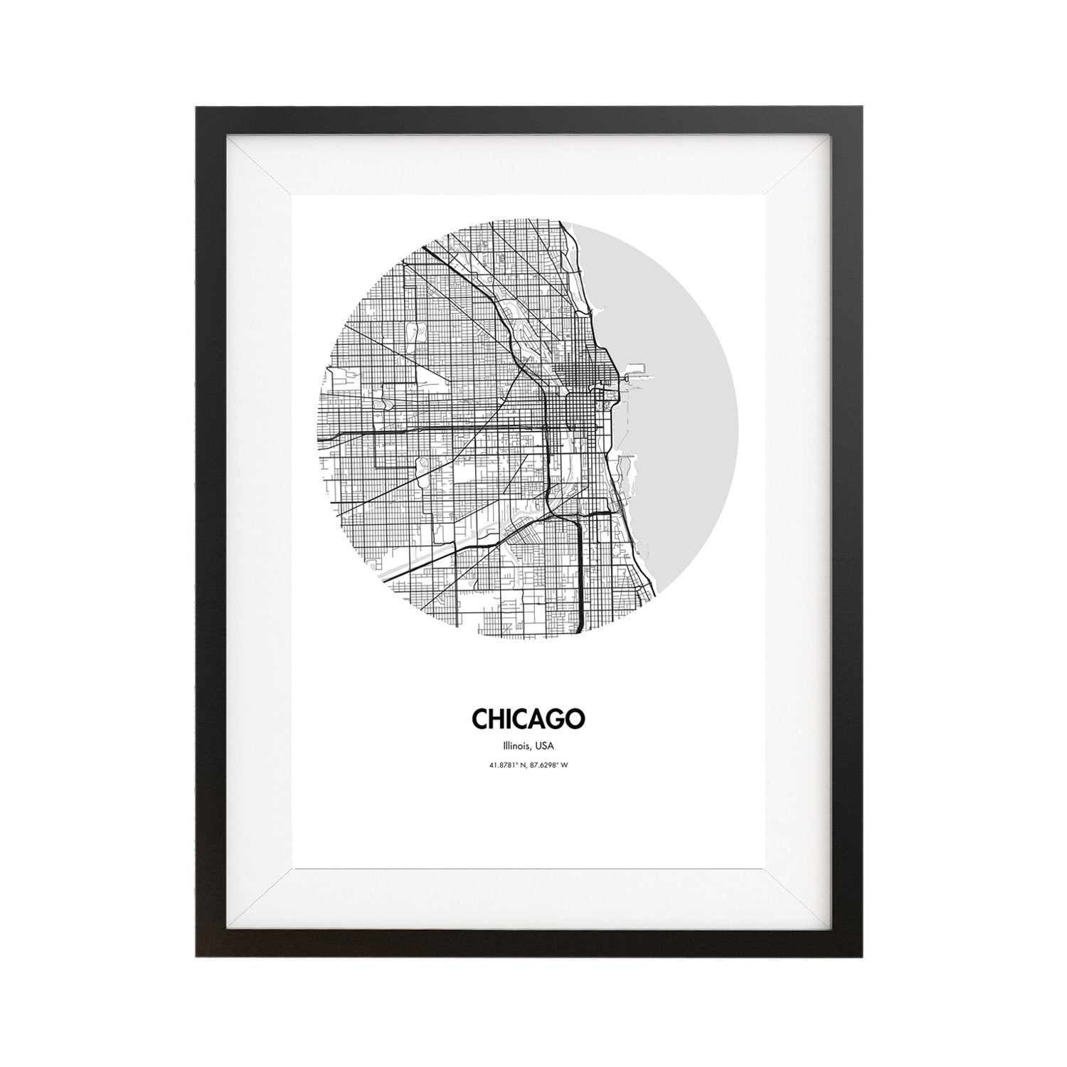 Buy Chicago Map Poster - 18 by 24 inch Map Print on