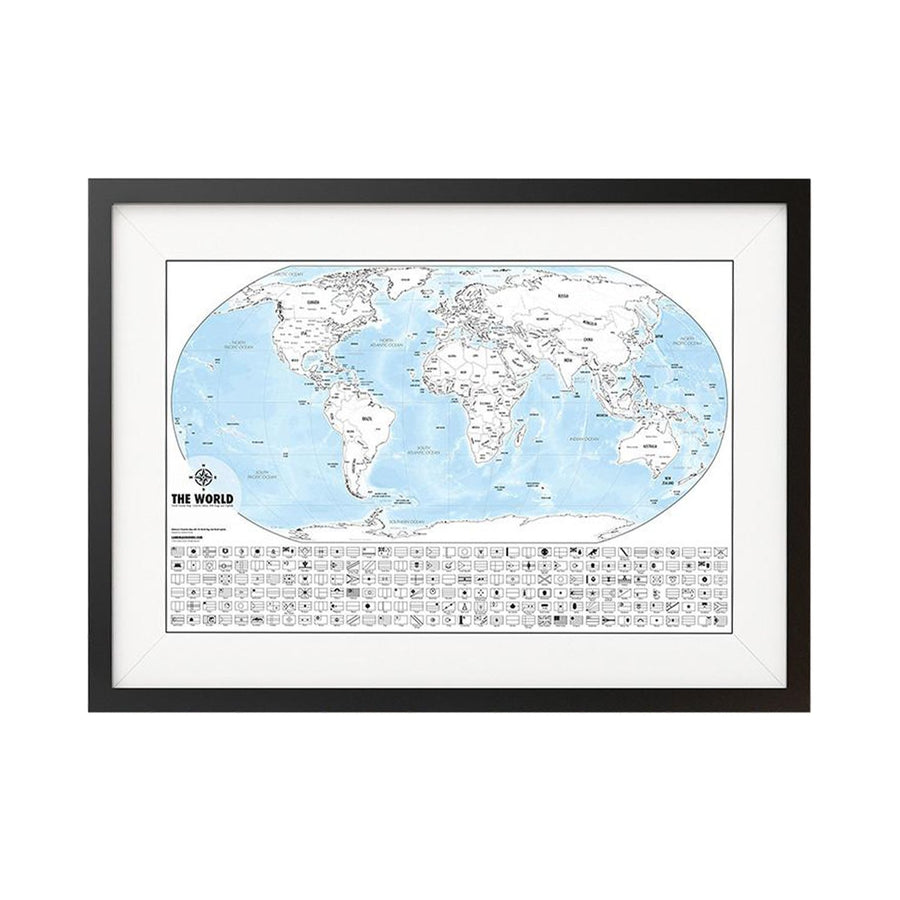 Black and white world map prints landmass color me world map outline poster gumiabroncs Gallery