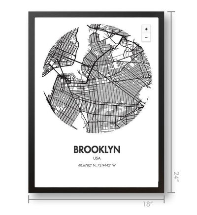 Brooklyn Map Poster