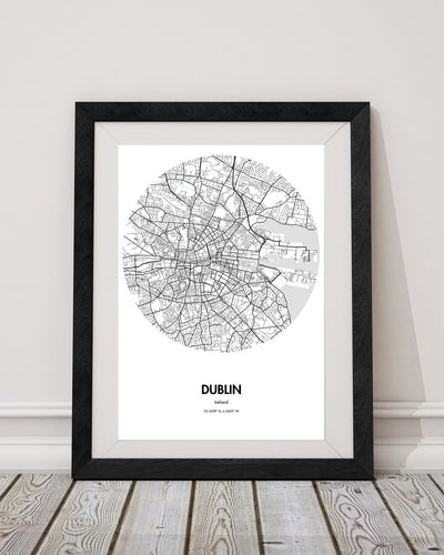 "Dublin Map Poster - 18 by 24"" City Map Print"