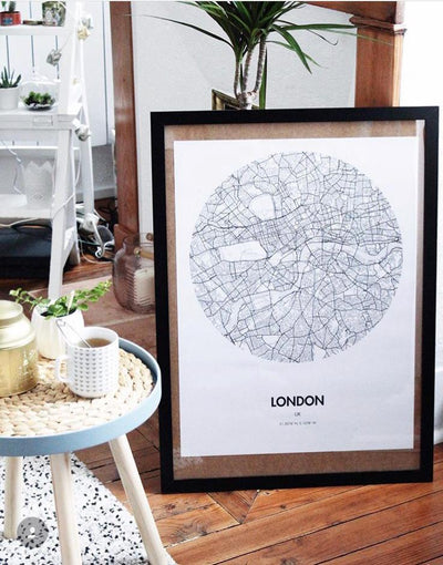 "London Map Poster - 18 by 24"" City Map Print"