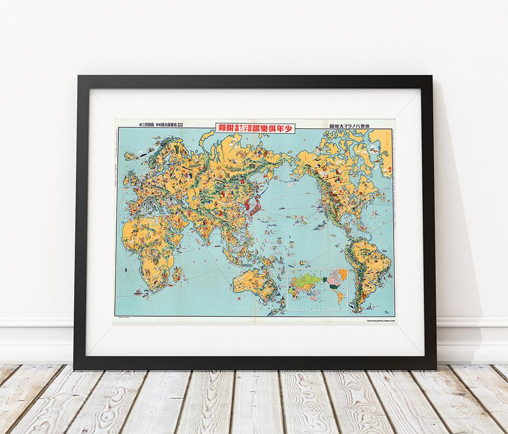 japan world map