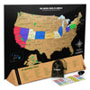 Scratch Off Map Of The USA With National Parks - Black & Gold Travel Tracker Map® - 17 (h) x 24 (w) Inches - Perfect Gift for Travelers