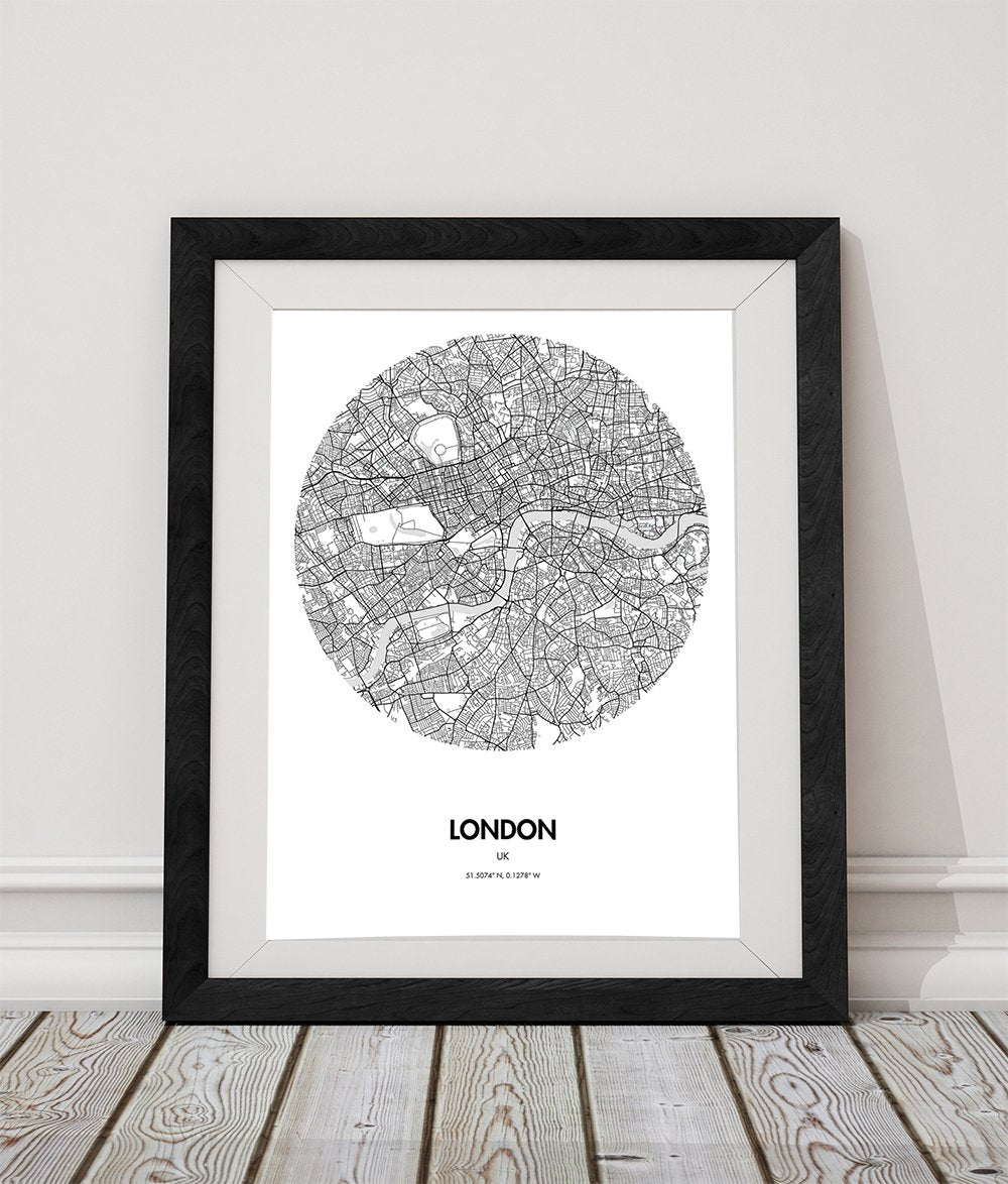 London City Map Printable.Buy London Map Poster 18 By 24 Inch City Map Print Online