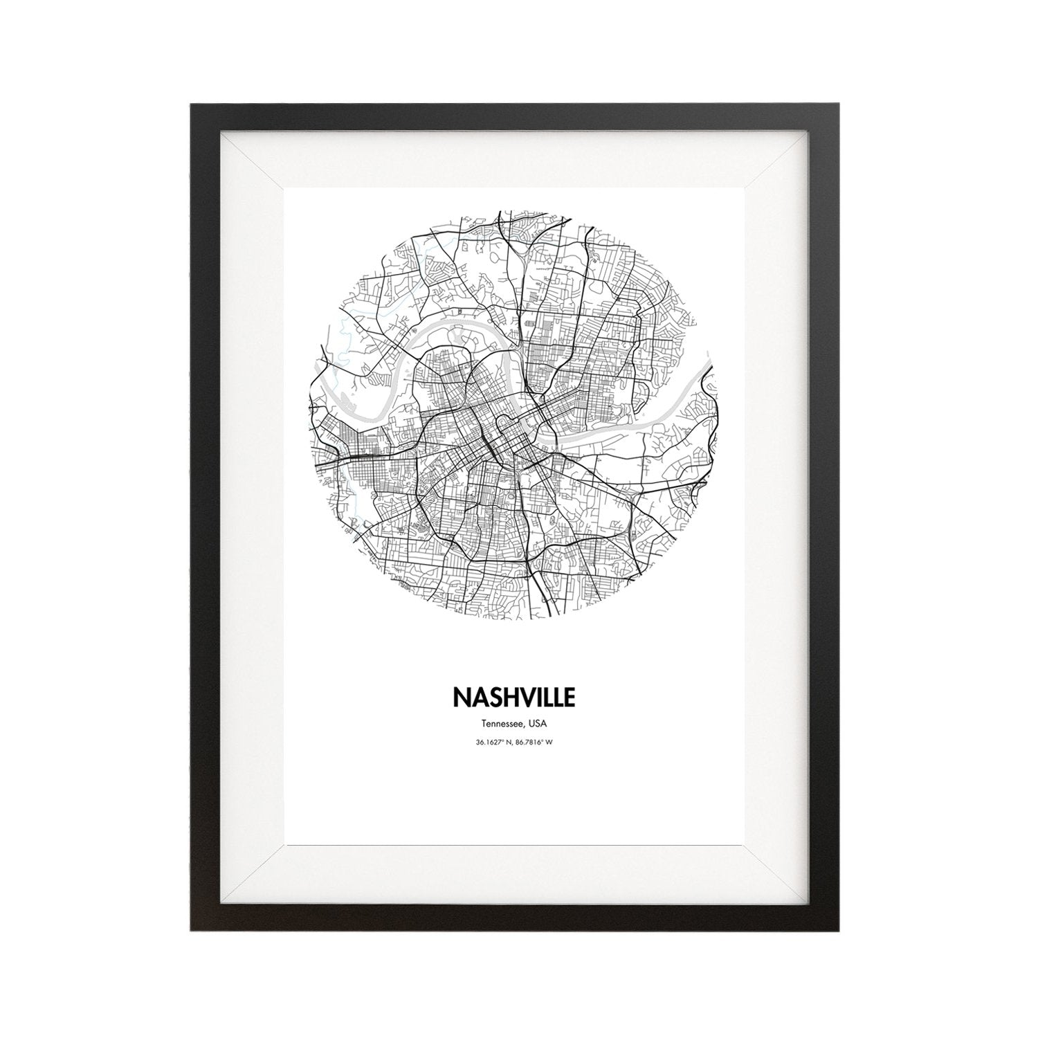 graphic regarding Printable Map of Nashville referred to as Nashville Map Poster - 18 by way of 24\