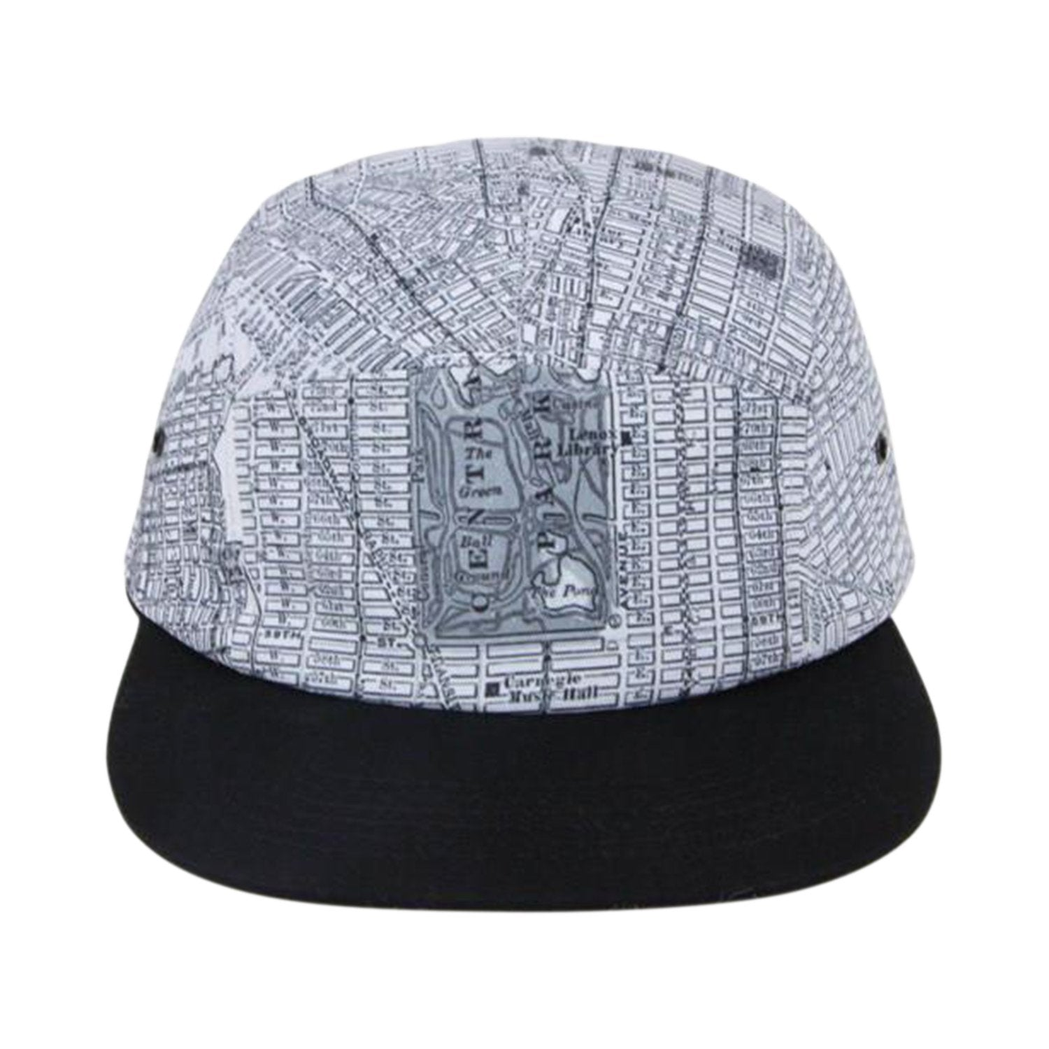 c4a92ba0ea1 New York City Hat - NYC Hat - Vintage Map Hat - Black And White