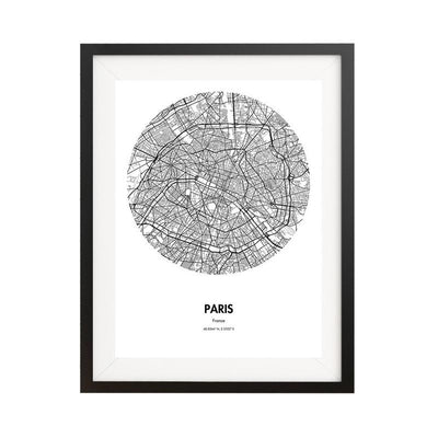 "Paris Map Poster - 18 by 24"" City Map Print"