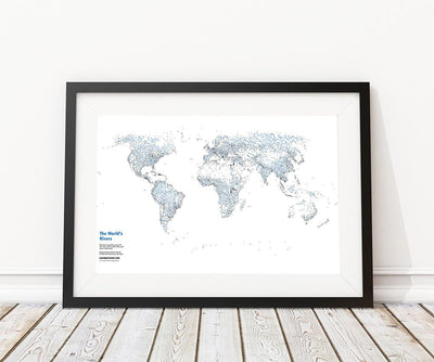 rivers map print
