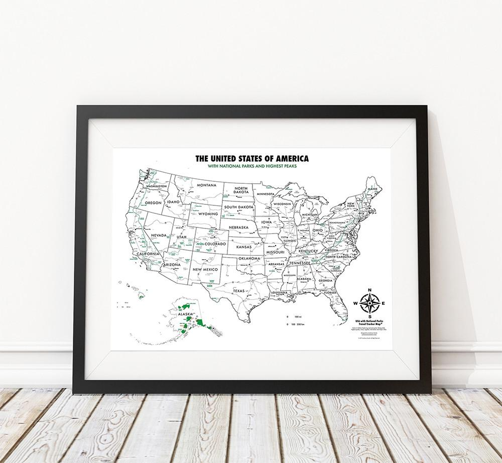Buy usa national parks color in map online landmass usa national parks color in map sciox Gallery