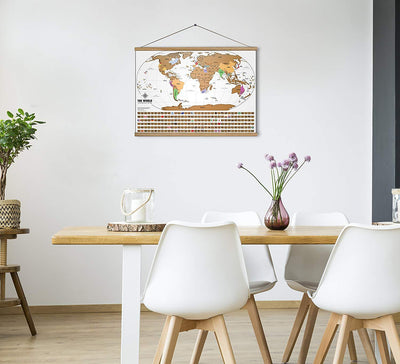 Scratch off world map with gold foil - World Travel Tracker Map ®