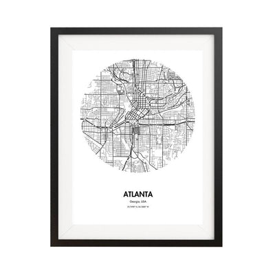 Atlanta Map Poster - 18 by 24 inch City Map Print