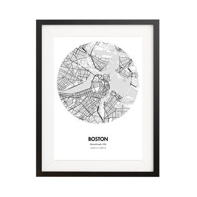 "Boston Map Poster - 18 by 24"" City Map Print"