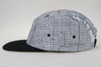 New York City Hat - NYC Hat - Vintage Map Hat - Black And White