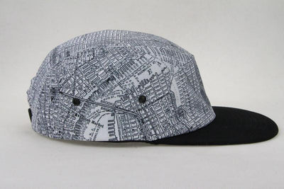 New York City Map Hat - New York City Hat - NYC Hat - Vintage Map Hat - Black And White