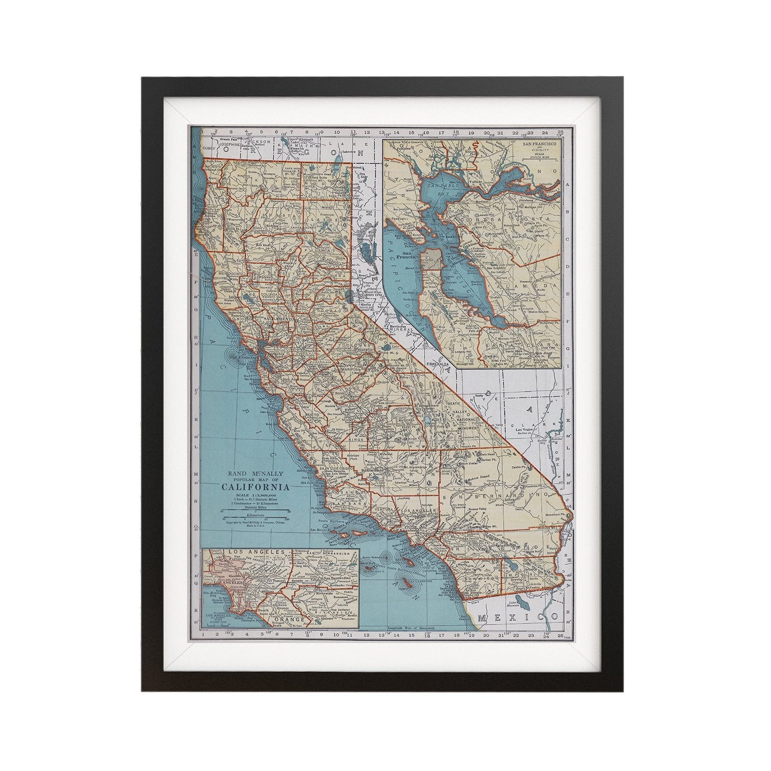 Buy California Vintage Map Poster Online