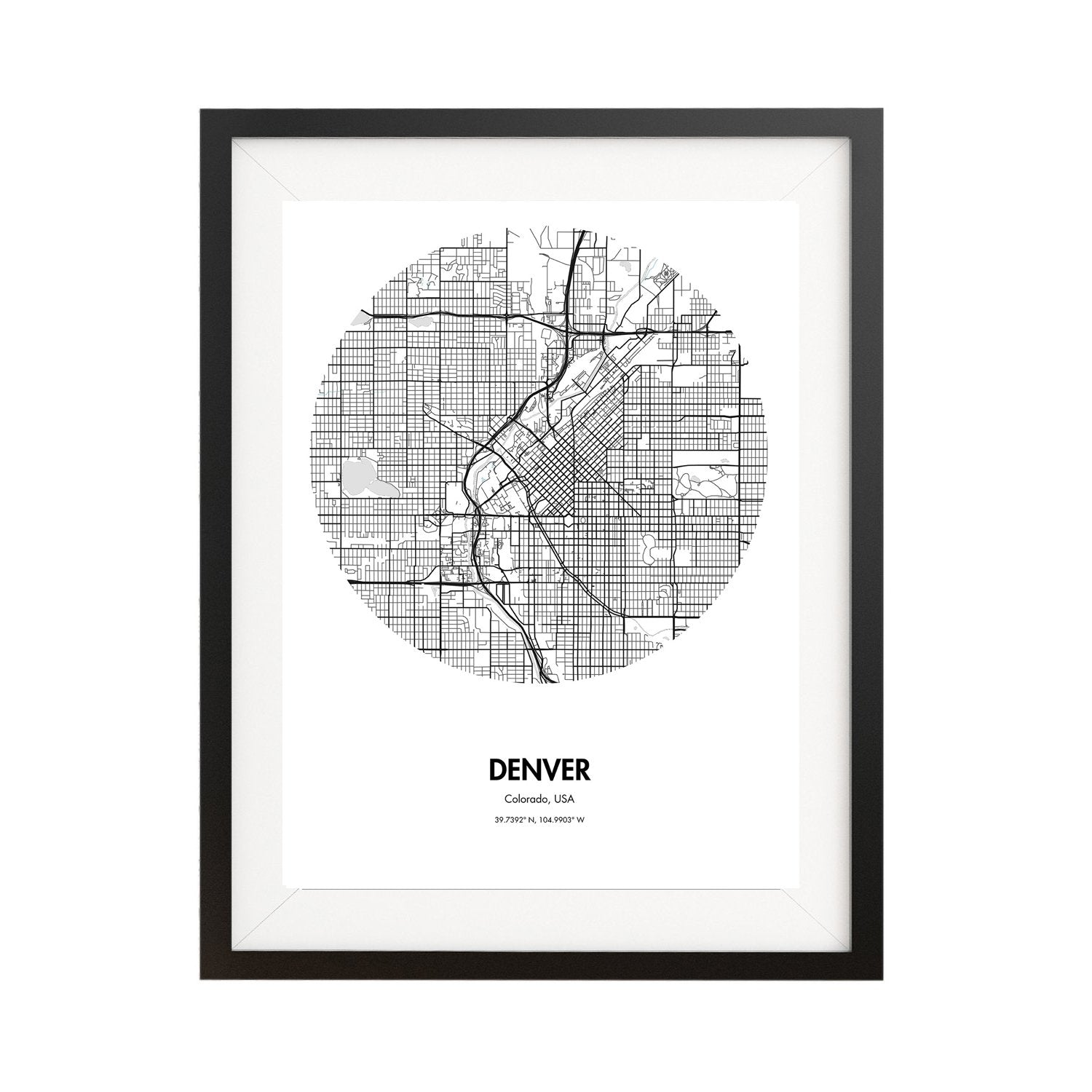 Buy Denver Map Poster   18 by 24 inch City Map Print Online ..