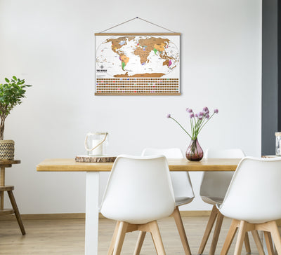 "Hugger Frame ™ - Magnetic Wooden Hanger Frame For Maps, Posters, Prints, Artwork - 24"" Wide"