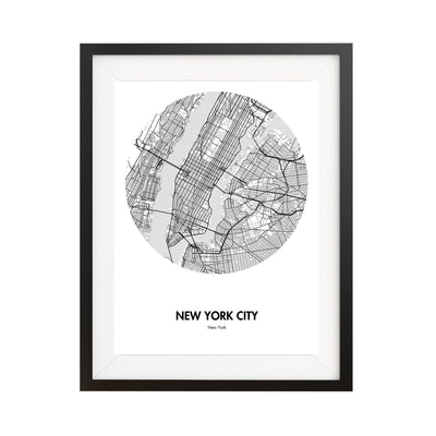 "New York City Map Poster - 18 by 24"" City Map Print"