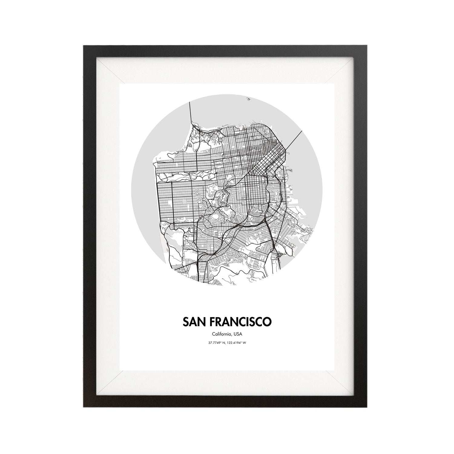 image regarding Printable Map of San Francisco called San Francisco Map Poster - 18 by means of 24\