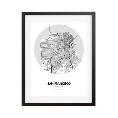 "San Francisco Map Poster - 18 by 24"" City Map Print"