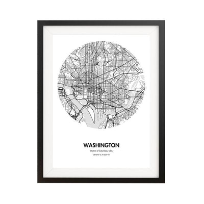 Washington DC Map Poster - 18 by 24 inch City Map Print