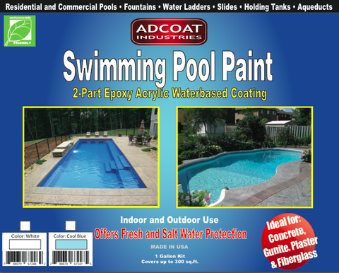 AdCoat Swimming Pool Paint -- SUMMER SALE ENDING SOON -- $77.00