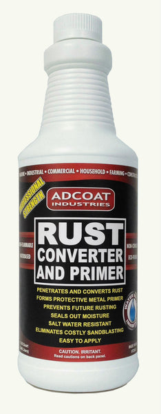 How To Remove Paint From Metal >> AdCoat Rust Converter and Primer - 1 Quart - AdCoat Industries