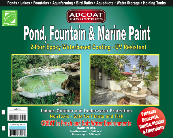 Adcoat pond fountain marine paint 1 gallon adcoat - Swimming pool industry statistics ...