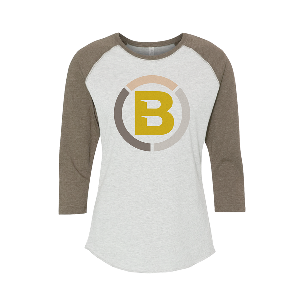 Blonyx S11 Baseball T - SAND/ Heather White