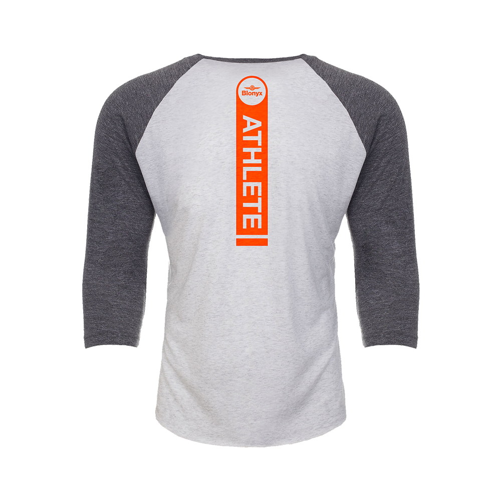 Blonyx Series 10 Baseball T - Heather Grey/ Heather White