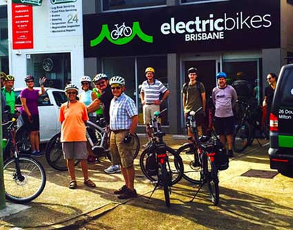 Electric Bikes Brisbane Owners Club February ebike ride River Loop