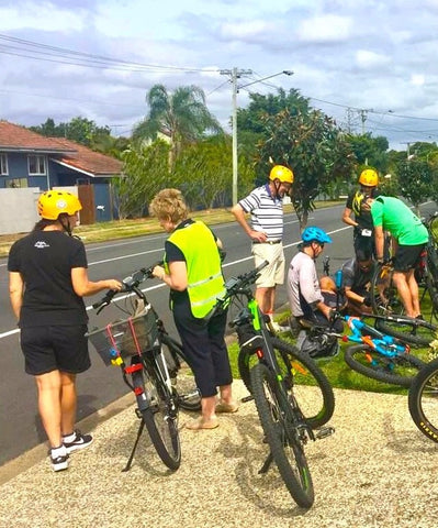Electric Bikes Brisbane February Owners Club ebike ride roadside repairs