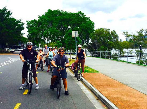Electric Bikes Brisbane Owners Club e-bike ride February West End