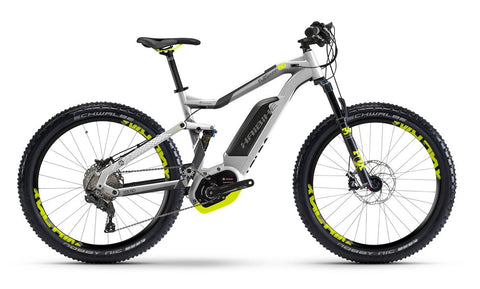 Haibike FullSeven 6.0 silver Bosch electric mountain bike @ Electric Bikes Brisbane Milton