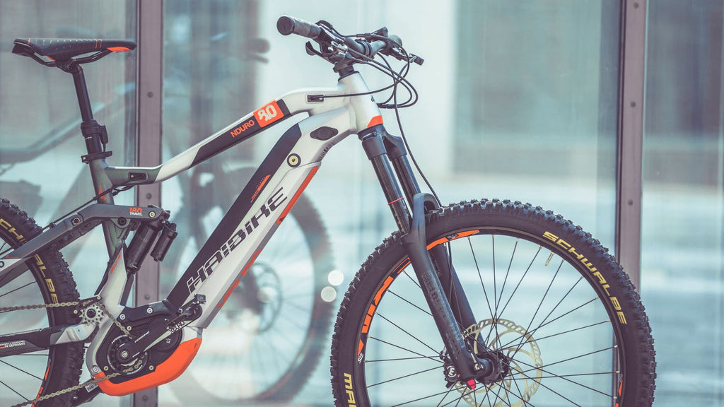 Haibike eMTB with integrated Bosch Powertube battery
