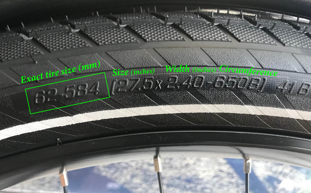 What size is my electric bike tire?