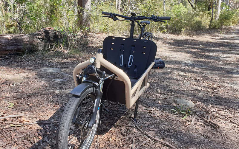 Our Riese & Muller Load 60 cargo e bike is our second car