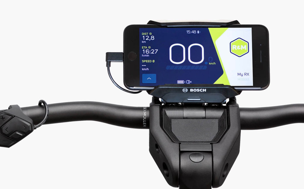 Riese & Muller Superdelite Mountain E Bike 2020 - SmartphoneHub Cockpit