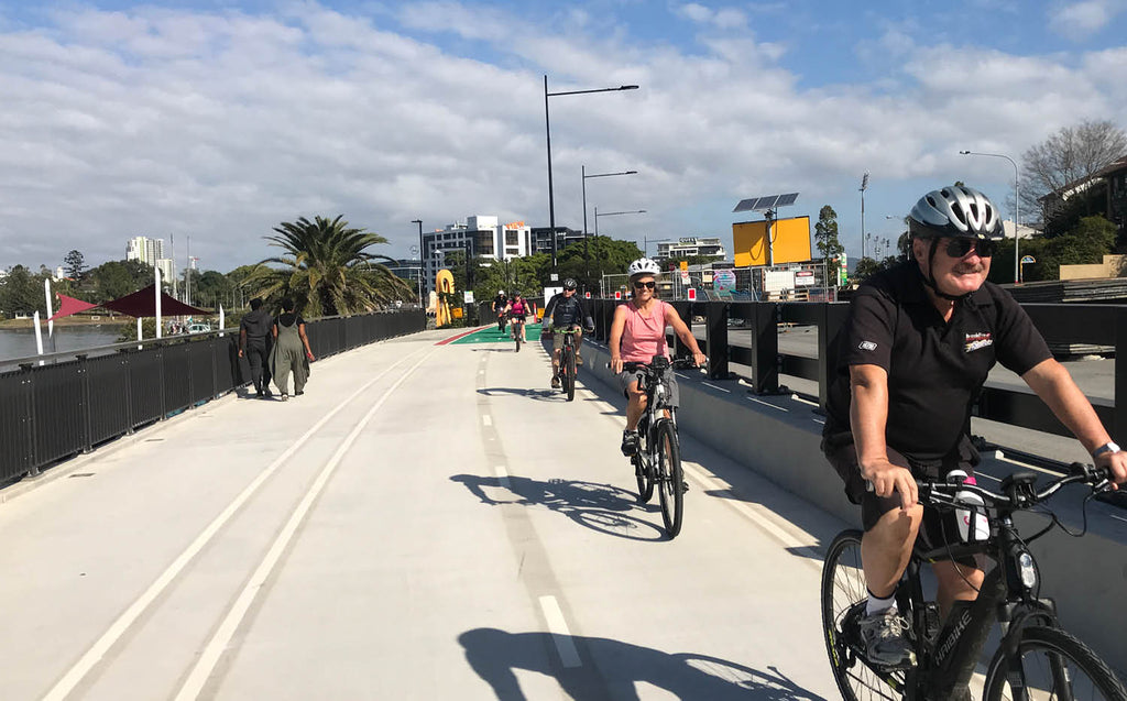 Ebike riding on Brisbane's bicycle paths