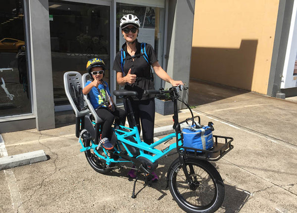 Tern GSD with two child seats | Electric Bikes Brisbane