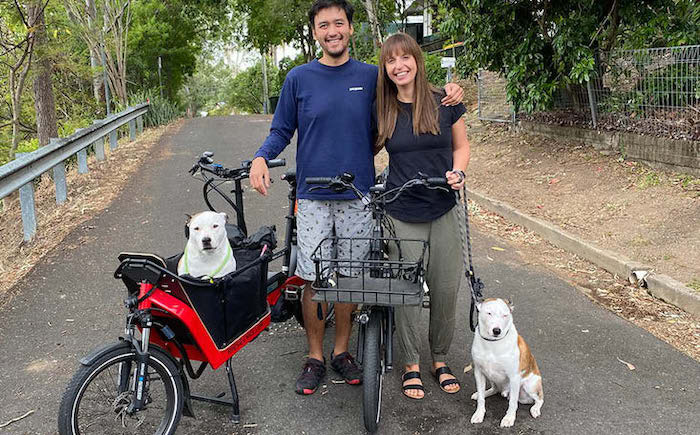 Fun while in isolation with ebikes: Dieter & Fiona