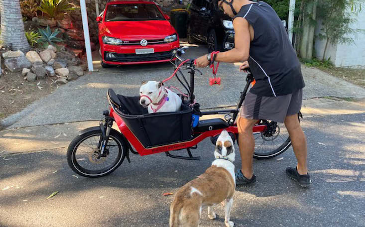 Taking June out in the Riese & Muller Packster 40 cargo ebike