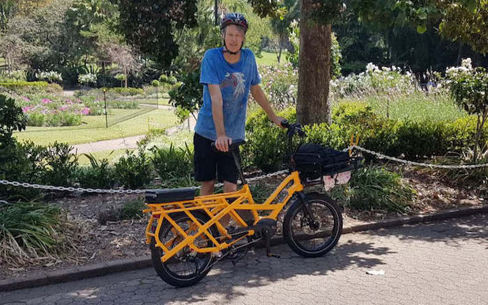 Peter's Tern GSD cargo electric bike: making music in Brisbane