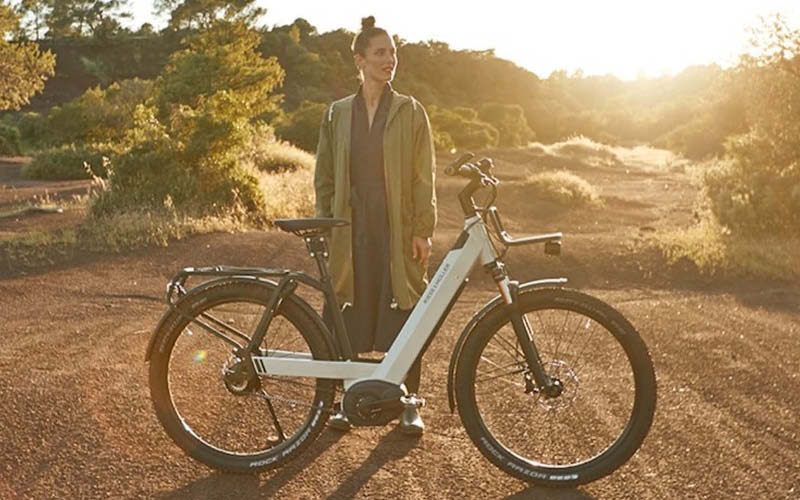 Riese & Muller Nevo GT Vario electric bike with front carrier and GX option