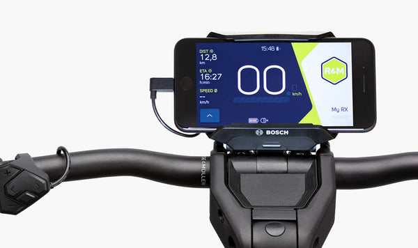 Riese & Muller Charger3 Mixte Vario EBike - SmartphoneHub display