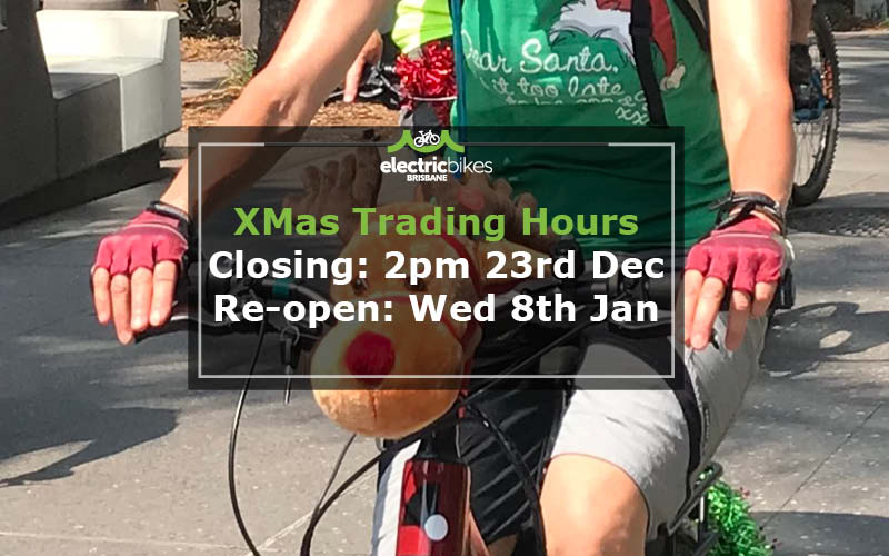 Electric Bikes Brisbane Christmas 2019 Trading Hours