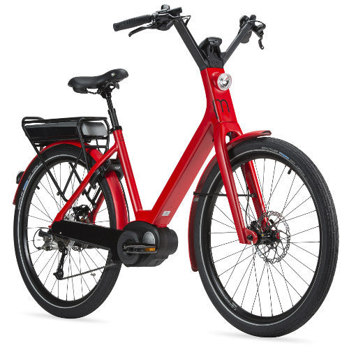 Moustache Lundi electric bike - superb comfort with an upright riding position