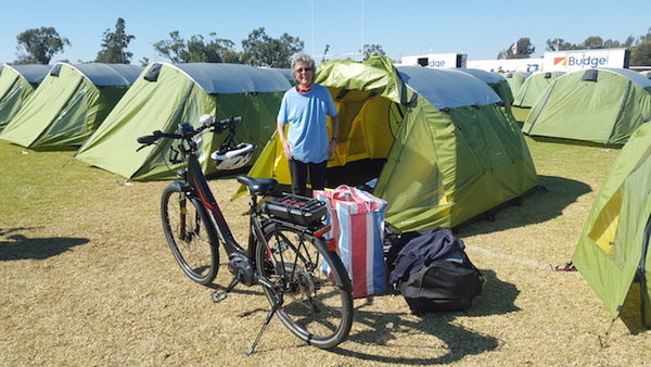 Completing her 11th 9-Day Cycle Tour