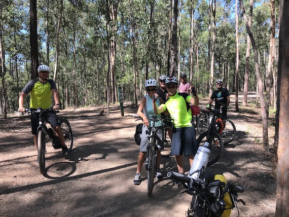 Adventure e-bikes in Mt Coottha Forest - Electric Bikes Brisbane Owners Club ride