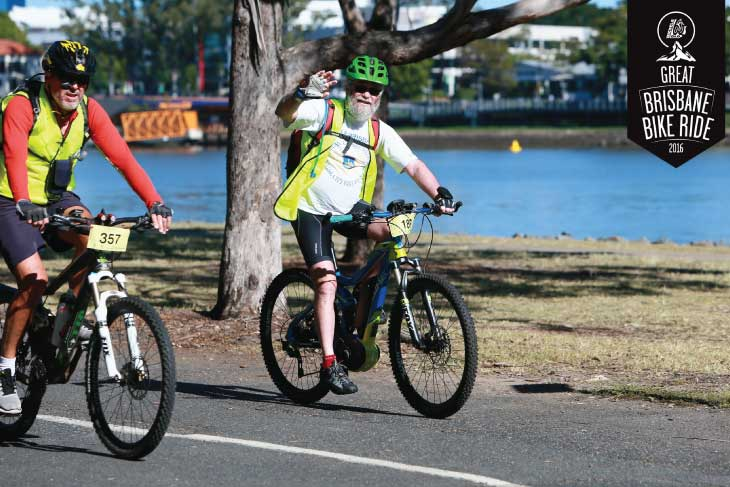 EBB Customer on Ebike at Great Brisbane Bike Ride